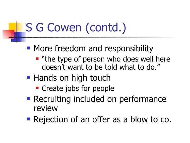 SG Cowen: New Recruits Harvard Case Solution & Analysis