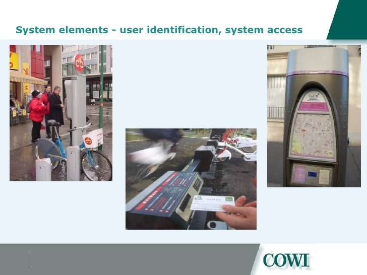 System elements - user identification, system access