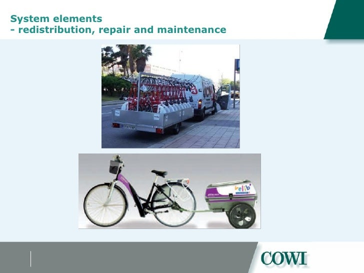 System elements  - redistribution, repair and maintenance