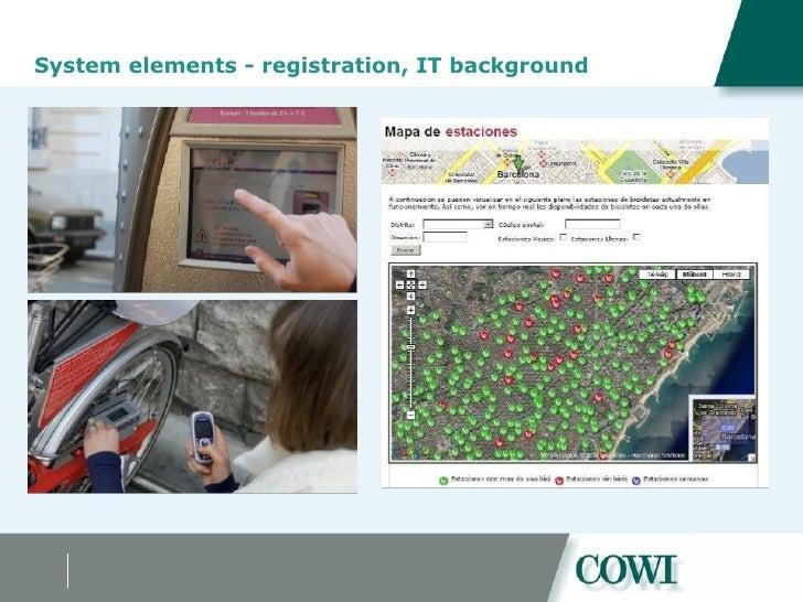 System elements - registration, IT background