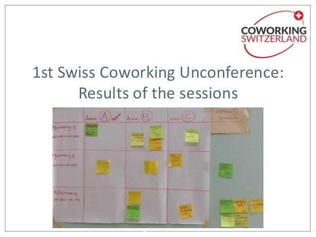 1st Swiss Coworking Unconference: Results of the sessions