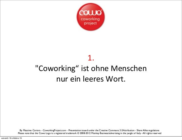 Coworking Manifesto by Cowo® - German Slide 2