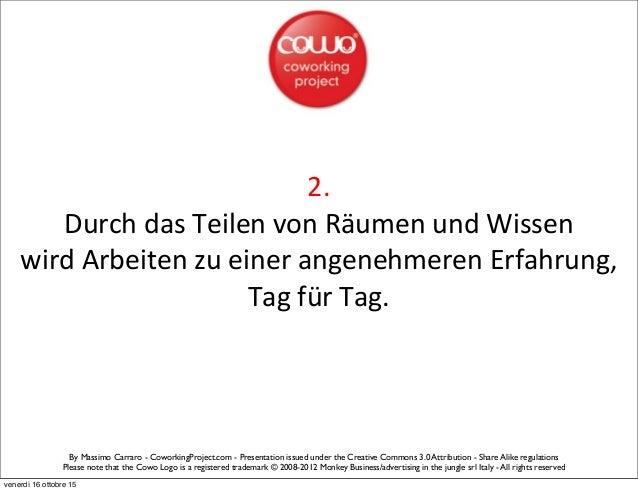 Coworking Manifesto by Cowo® - German Slide 3