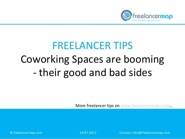 FREELANCER TIPS Coworking Spaces are booming - their good and bad sides More freelancer tips on www.freelancermap.com...  ...