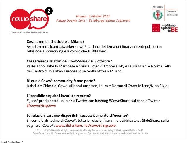 Milano,  3  o;obre  2015 Piazza  Duomo  19/a    -‐  Ex  Albergo  diurno  Cobianchi 2 Tu6  i  di...