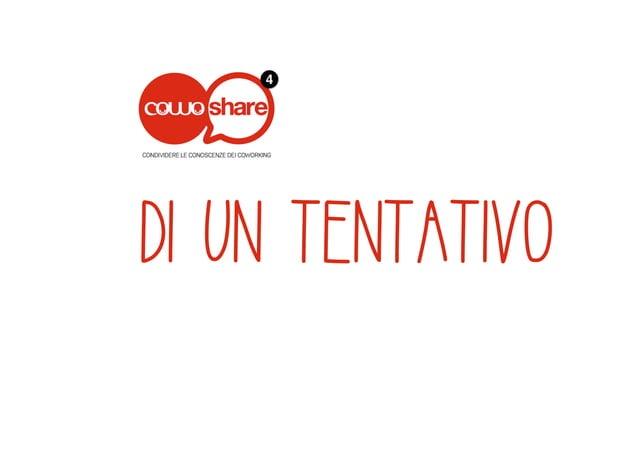 """Cowoshare4 """"Coworking e Artigianato"""": Presentazione di Cowo® CNA Parma"""