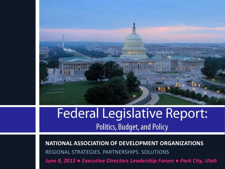 NATIONAL ASSOCIATION OF DEVELOPMENT ORGANIZATIONSREGIONAL STRATEGIES. PARTNERSHIPS. SOLUTIONSJune 8, 2012 ● Executive Dire...
