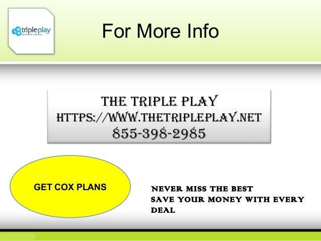 Cox internet plans the triple play 855 697 7630 for Cox plans