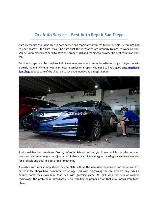 Cox Auto Service - San Diego Honest Auto Repair Shops
