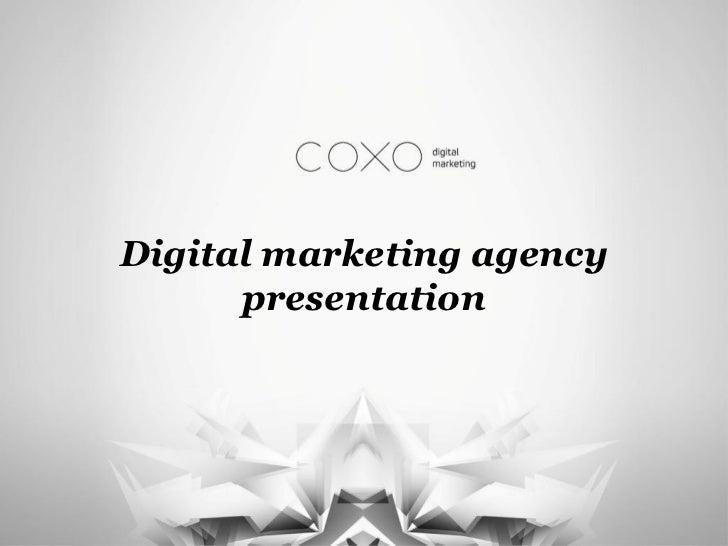 Digital marketing agency      presentation