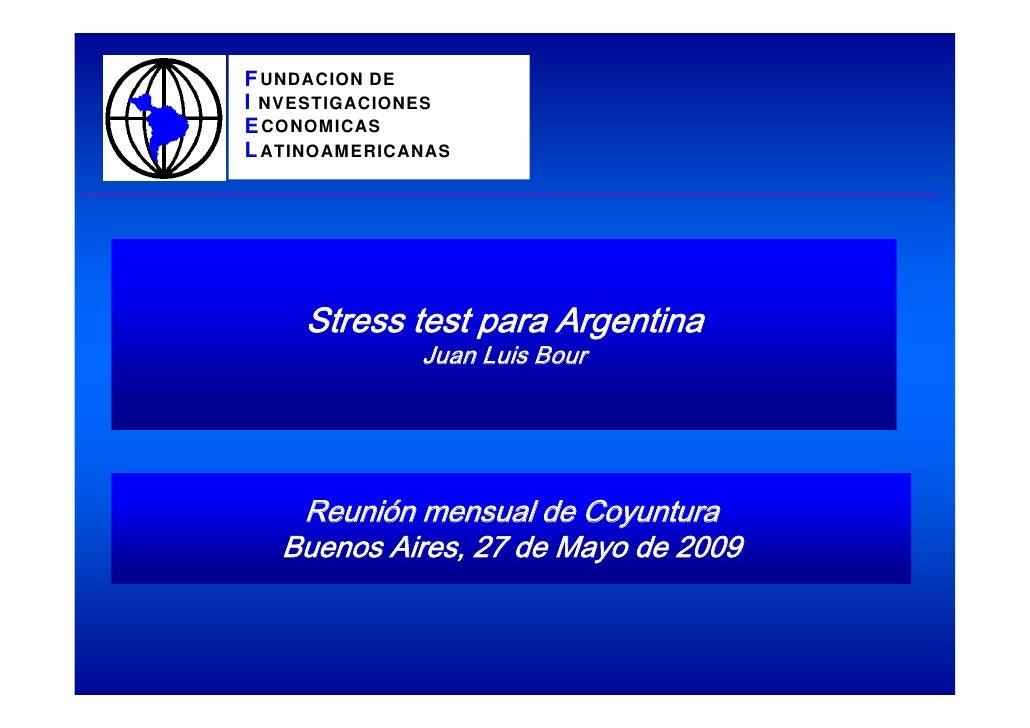 F UNDACION DE I NVESTIGACIONES E CONOMICAS L ATINOAMERICANAS          Stress test para Argentina               Juan Luis B...
