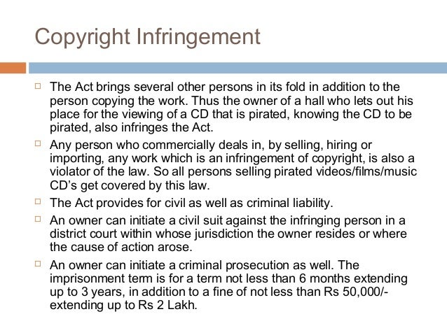 essays copyright infringement Copyright infringement 2013 abstract this essay was written to to serve as a survey of part of copyright law this essay is intended only to present.