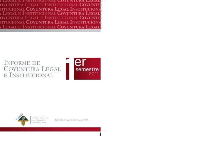 TABLA DE CONTENIDOS1. RESUMEN EJECUTIVO2. SIGLAS3. INTRODUCCIÓN4. EJE ESTADO DE DERECHO E INSTITUCIONALIDAD  4.1. Introduc...