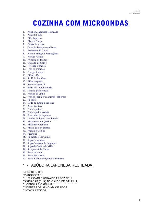 N.Freitas Livro Microondas  COZINHA COM MICROONDAS 1. 2. 3. 4. 5. 6. 7. 8. 9. 10. 11. 12. 13. 14. 15. 16. 17. 18. 19. 20. ...