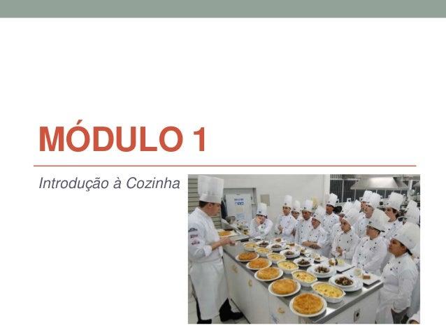 MÓDULO 1 Introdução à Cozinha