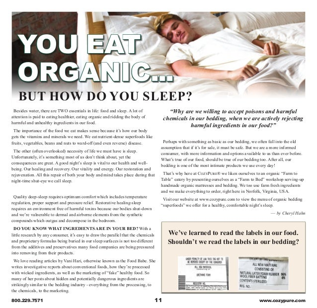 Cozypure Organic Mattresses And Bedding