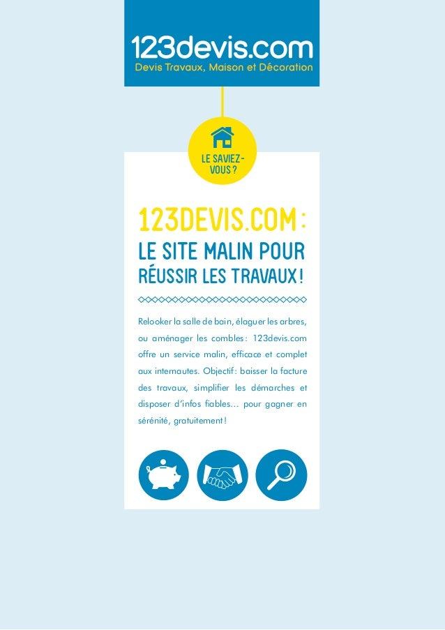 123devis.com : Le Site Malin Pour Réussir Les Travaux !