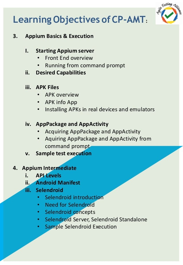 Certified Professional Appium for Mobile Testing