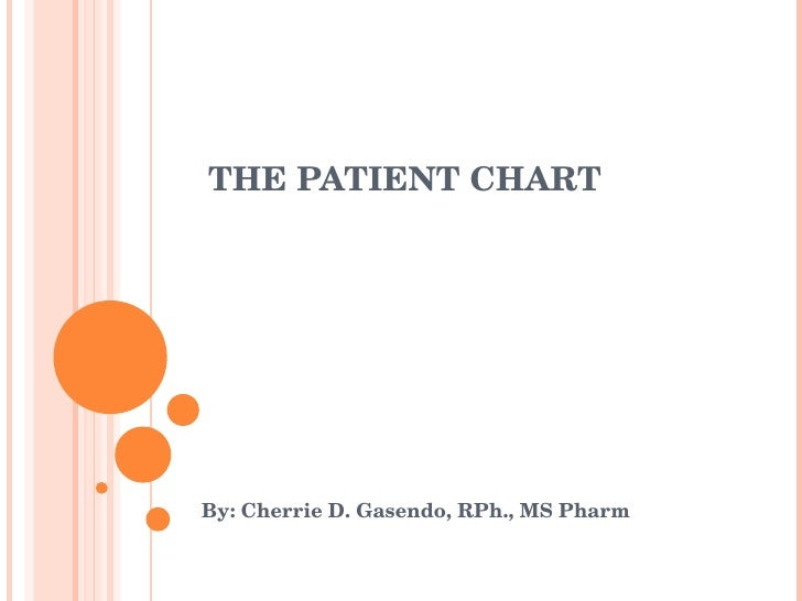 THE PATIENT CHART By: Cherrie D. Gasendo, RPh., MS Pharm