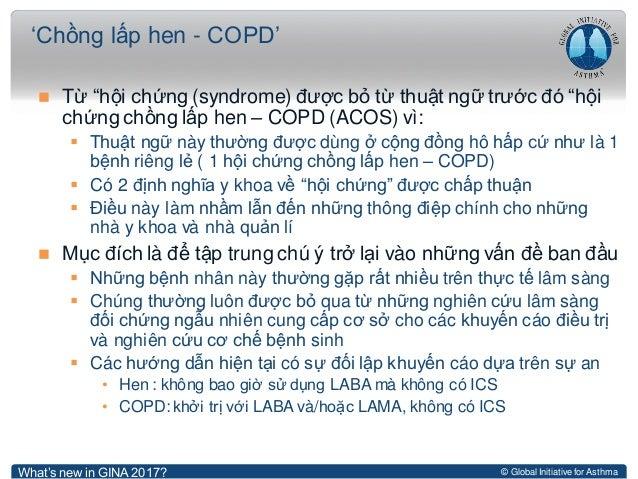 """© Global Initiative for Asthma  Từ """"hội chứng (syndrome) được bỏ từ thuật ngữ trước đó """"hội chứng chồng lấp hen – COPD (A..."""