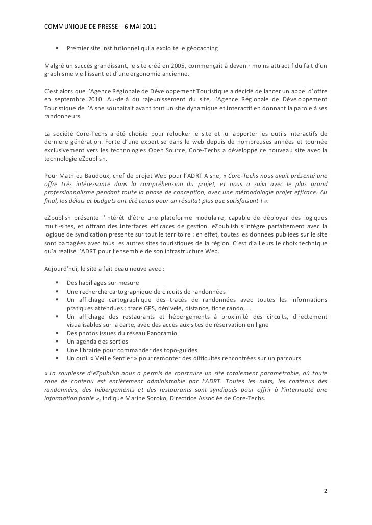 COMMUNIQUEDEPRESSE–6MAI2011         PremiersiteinstitutionnelquiaexploitélegéocachingMalgréunsuccèsgrand...
