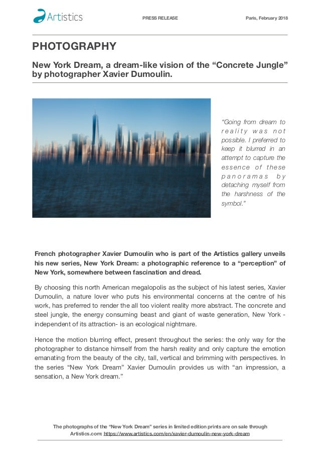 PRESS RELEASE Paris, February 2018 PHOTOGRAPHY 