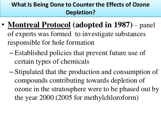 "the ozone layer and the montral protocol Ozone layer protection the stratospheric ozone layer is earth's ""sunscreen"" – protecting living things from too much ultraviolet radiation the emission of ozone depleting substances has."