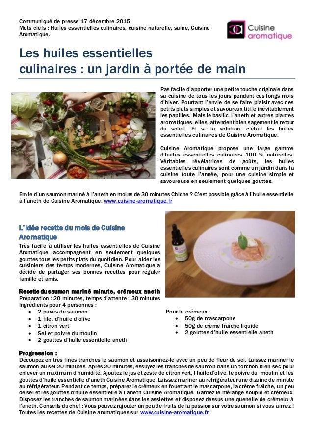 Les Huiles Essentielles Culinaires Un Jardin A Portee De Main