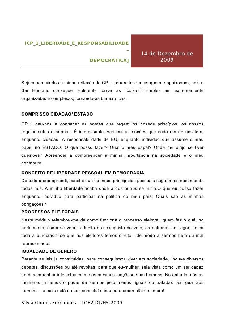 Cp 1 liberdade_e_responsabilidade_democrática_reflexão_sílvia_fernandes