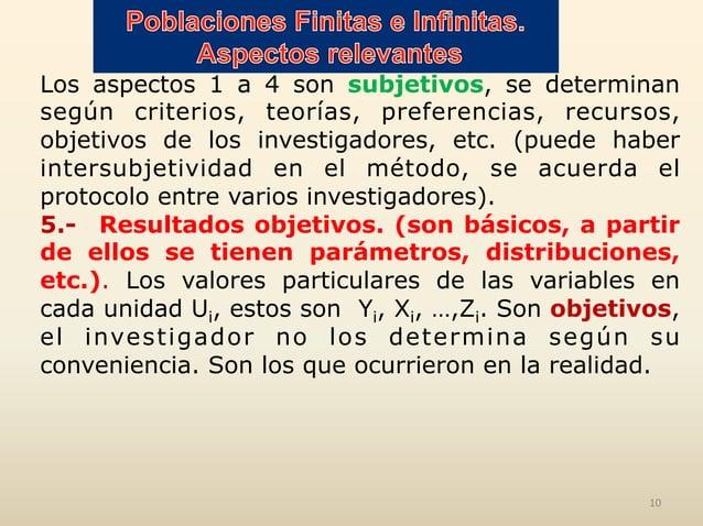 Los aspectos 1 a 4 son subjetivos, se determinan según criterios, teorías, preferencias, recursos, objetivos de los invest...