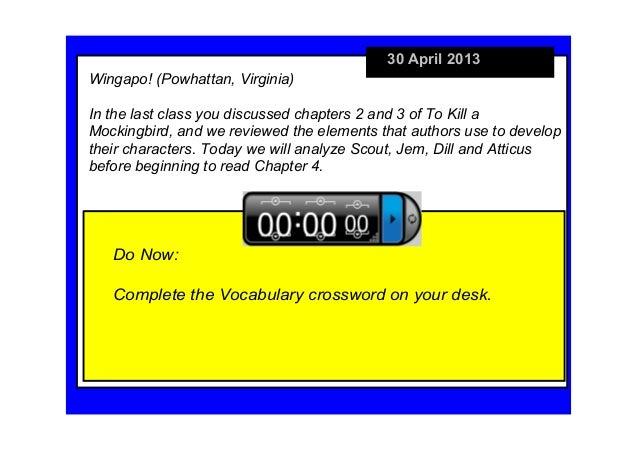 30April2013DoNow:CompletetheVocabularycrosswordonyourdesk.Wingapo!(Powhattan,Virginia)Inthelastclassyoudis...