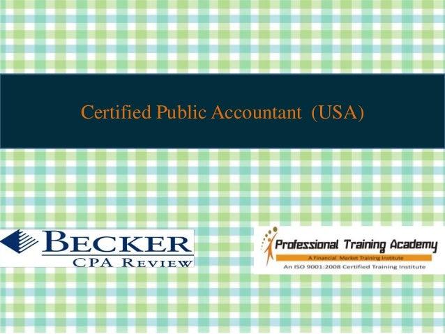 Certified Public Accountant (USA)