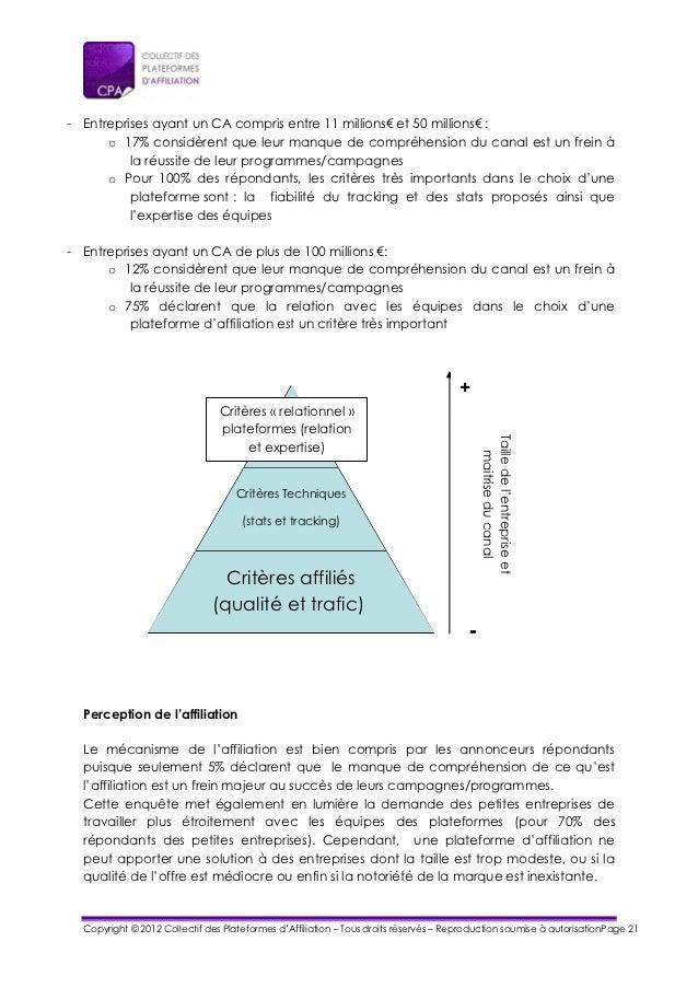 - Entreprises ayant un CA compris entre 11 millions€ et 50 millions€ :      o 17% considèrent que leur manque de compréhen...