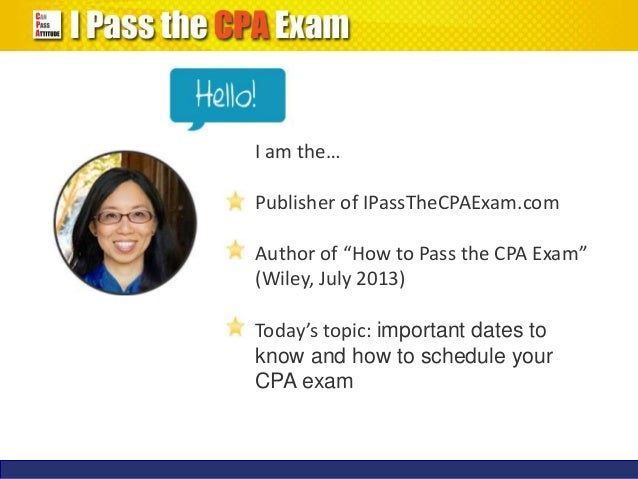 Cpa exam dates in Brisbane