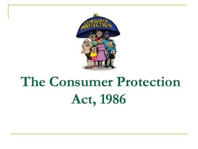 Consumer Protection Act-1986