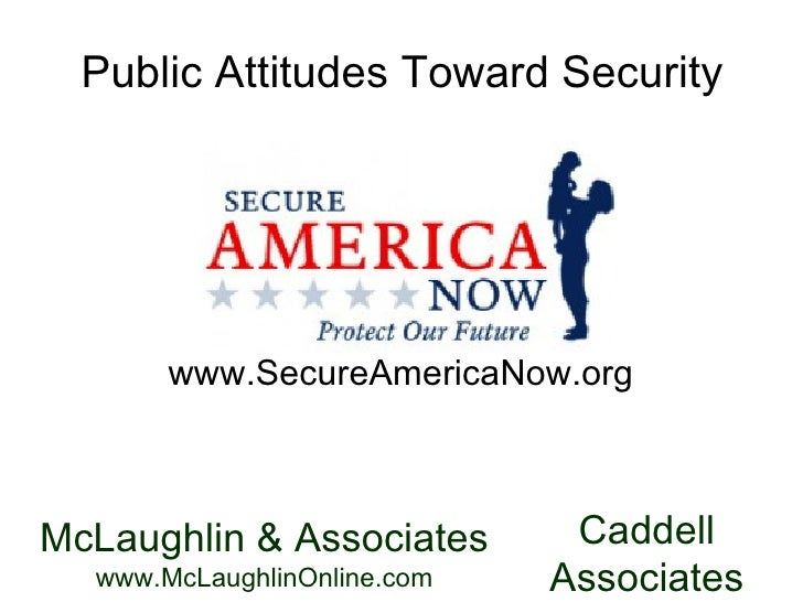 Public Attitudes Toward Security www.SecureAmericaNow.org McLaughlin & Associates  www.McLaughlinOnline.com Caddell  Assoc...