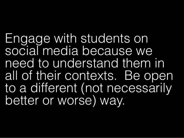 Understand how social media may impact the developmental process-both in light of current theory and in ways we do not yet...