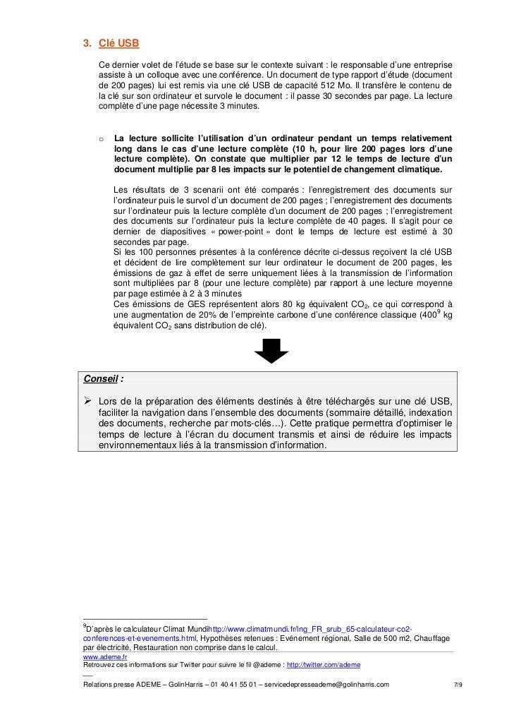 3. Clé USB     Ce dernier volet de l'étude se base sur le contexte suivant : le responsable d'une entreprise     assiste à...