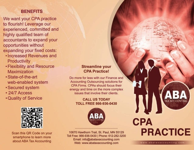 BENEFITS  We want your CPA practice to flourish!  Leverage our experienced,  committed and highly qualified team of accounta...