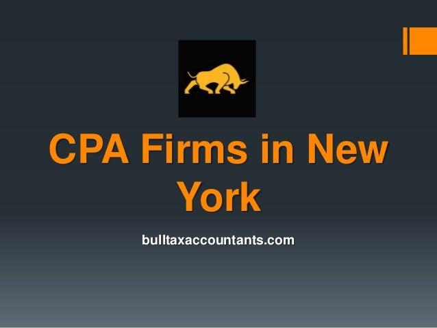 CPA Firms in New York bulltaxaccountants.com