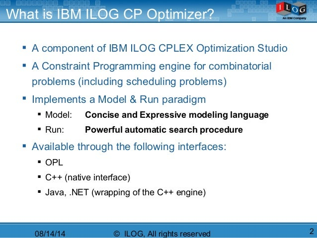 IBM ILOG CP Optimizer for Detailed Scheduling Illustrated on Three Pr…