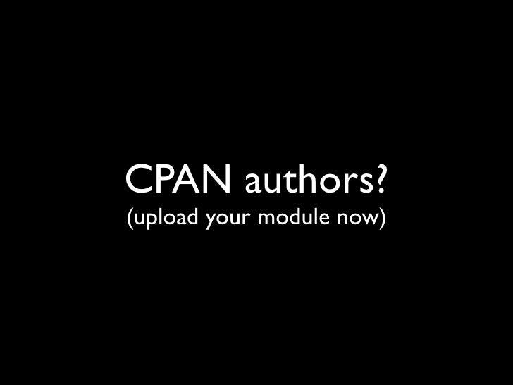CPAN Realtime feed Slide 2