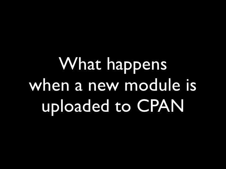 CPAN Realtime feed Slide 3