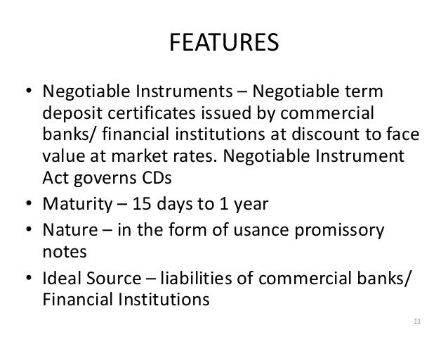 Commercial Papers and Certificate of Deposits