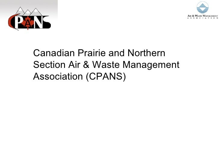 Canadian Prairie and Northern Section Air & Waste Management Association (CPANS)