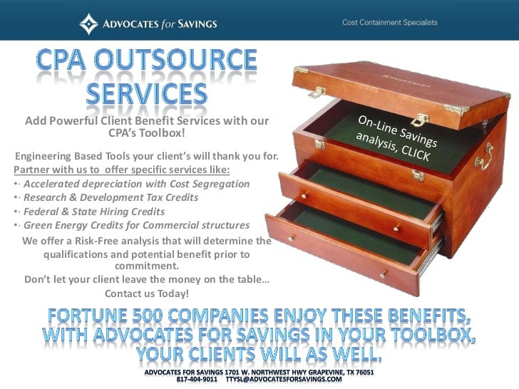 Add Powerful Client Benefit Services with our                CPA's Toolbox!Engineering Based Tools your client's will than...