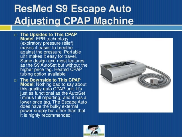 4 resmed s9 escape auto adjusting cpap machine - Cpap Machine Reviews