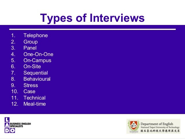 various type of interview