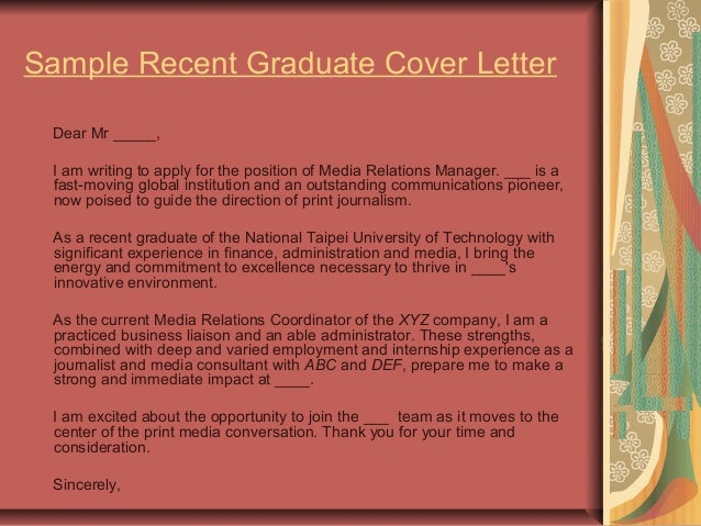 sports media relations cover letter Sample media relations cover letter | career services i am writing to apply for the position of project coordinator in your media relations department.