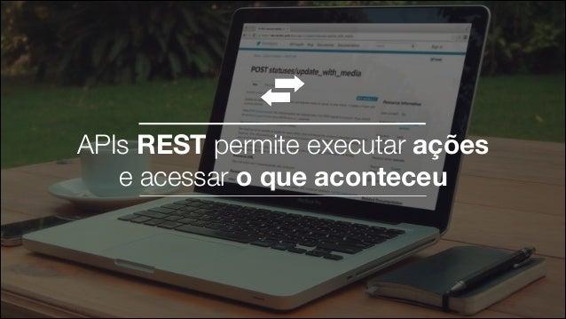 APIs REST permite executar ações e acessar o que aconteceu